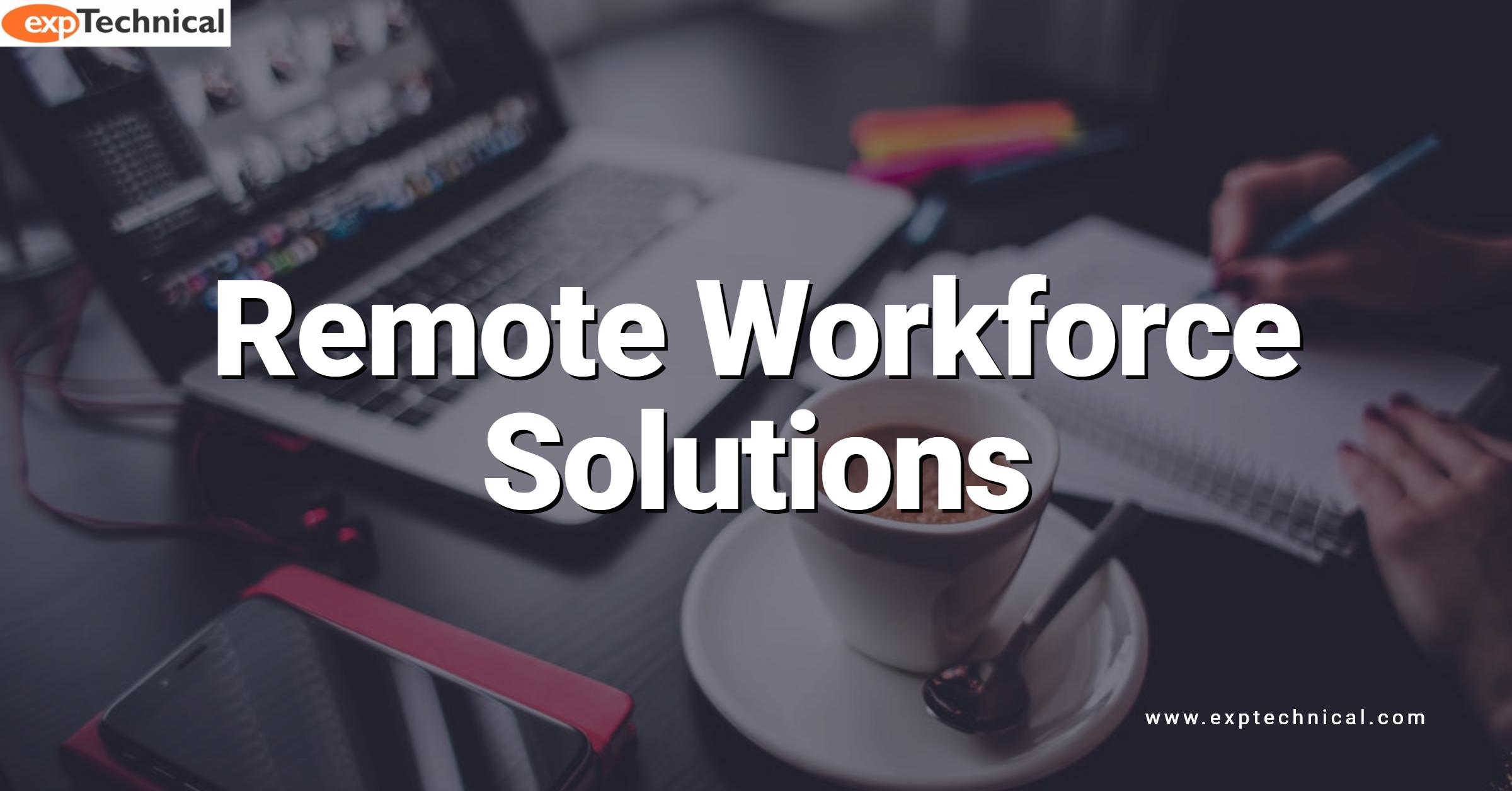 Remote Workforce Solutions - Person working from home in front of computer