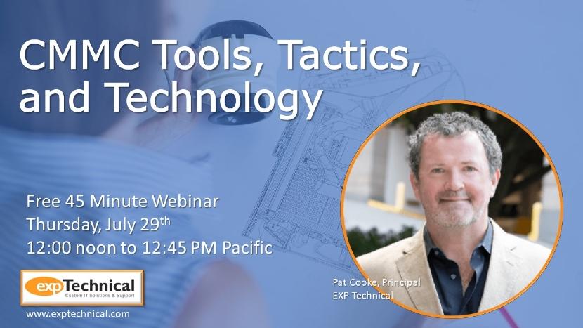 CMMC Tools Tactics and Technology